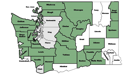 WCRP County Map